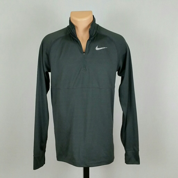 67236330c Nike Dri Fit Men's Gray Athletic Longsleeve Shirt.  M_5bb5f6d6c2e9fea596c2c308